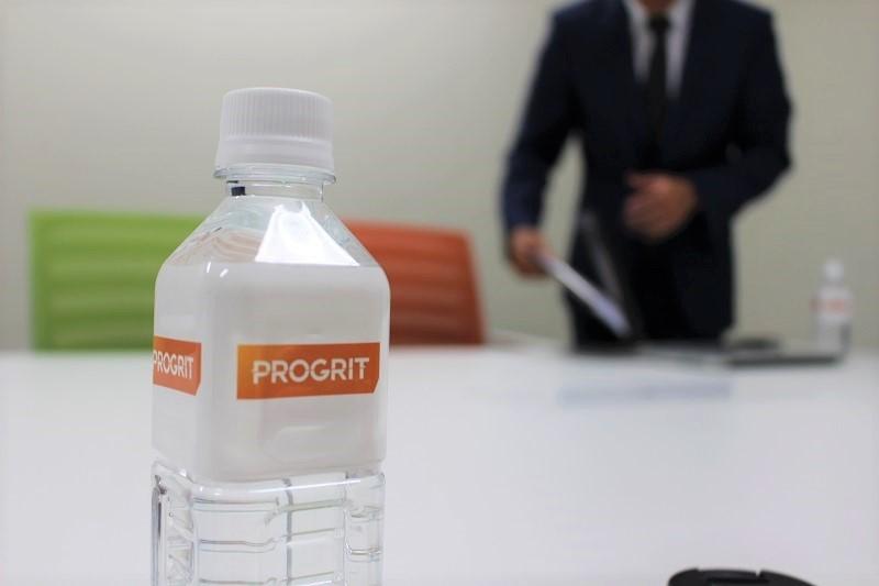 PROGRIT(プログリット)無料カウンセリング・取材後にもらった水
