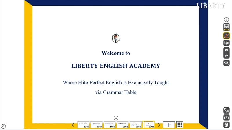 Liberty English Academy(リバティイングリッシュアカデミー)オンライン授業の教材
