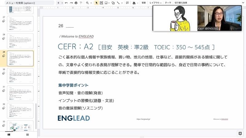 イングリード(ENGLEAD)の英語力診断テスト結果
